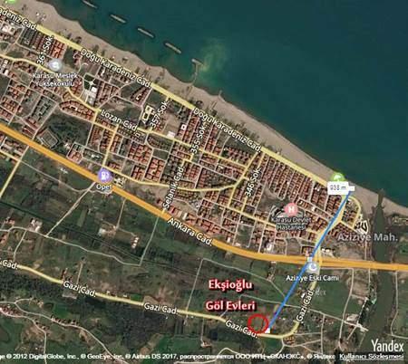 Ekşioğlu Karasu Göl Evleri - Konum - Karasu Ekşioğlu İnşaat Karasu Satılık Yazlık Daire ve Dubleksler
