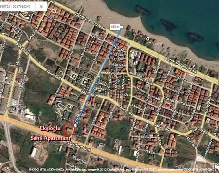 Ekşioğlu Sahil Apartmanı - Konum - Karasu Ekşioğlu İnşaat Karasu Satılık Yazlık Daire ve Dubleksler